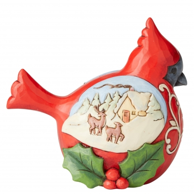 Świąteczny ptaszek Winter's Joy (Cardinal Pint-Sized Figurine) 6004293 Jim Shore