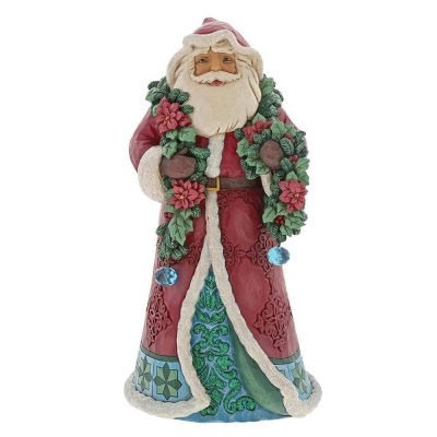 Mikołaj DOBRA NOWINA Wrapped in Good Tidings (Winter Wonderland Santa with Garlan 6001420 Jim Shore